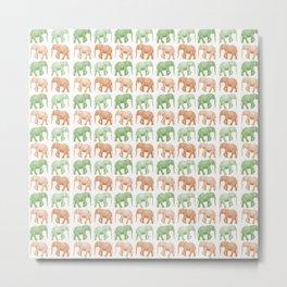 Little Elephants Metal Print
