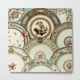 Albert Racinet - 18th Century pattern from L'ornement Polychrome Metal Print