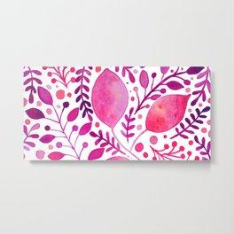 Pink and purple leaves Metal Print