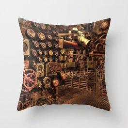 battleship engine room historic war Throw Pillow