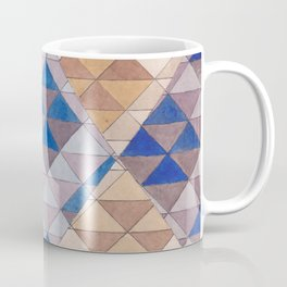 Triangle Pattern No. 13 Shifting Purple and Ochre Coffee Mug