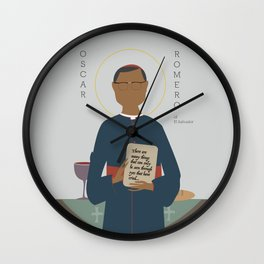Oscar Romero of El Salvador Wall Clock