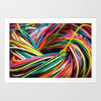 Plastic Rainbow Art Print