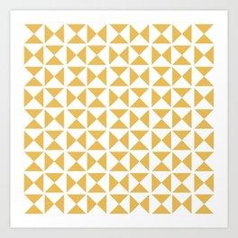 Mustard yellow Mid century Art Print