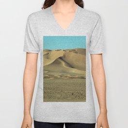 Sand Dunes Sahara Desert Landscape 10 Unisex V-Neck