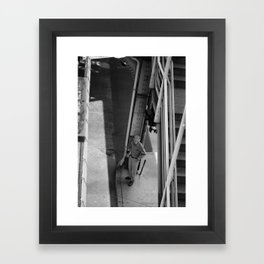 Man in the Streets of Chicago Framed Art Print