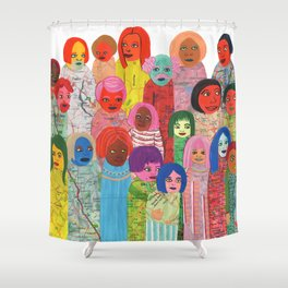 All the People Shower Curtain