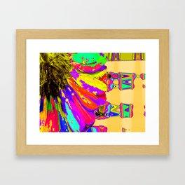 Rainbow Abstract Daisy Framed Art Print