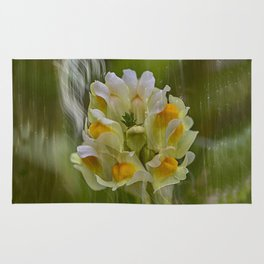 Yellow common Toadflax flower Rug