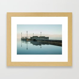 Cazenovia Lake On A Misty Morning Framed Art Print
