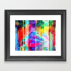 When you speak you transmit waves, ever refracted, Framed Art Print