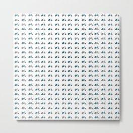 Blue and White Lambretta Pattern Metal Print