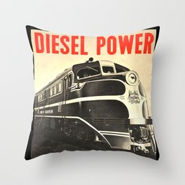 Diesel Power Throw Pillow