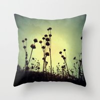the walking dead Throw Pillows featuring Walking Dead by Olivia Joy StClaire