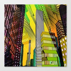 the colored city -4- Canvas Print