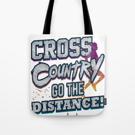 Cross Country Go the Distance Runner Gift Tote Bag