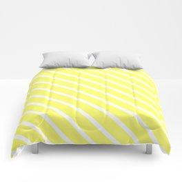 Custard Diagonal Stripes Comforters