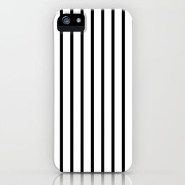 Black and White Vertical Stripes - Version 2 iPhone Case