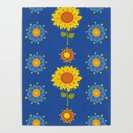 Sunflowers of Ukraine Poster