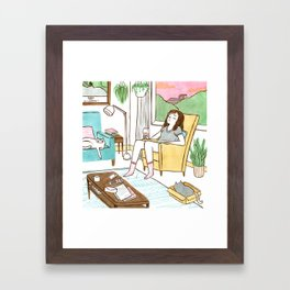 Life with cats Framed Art Print