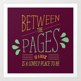 Between the Pages Art Print