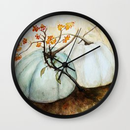 Pumpkin Patch - Watercolor Wall Clock