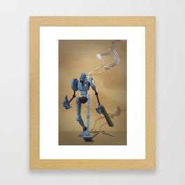 Police_Bot Framed Art Print