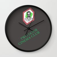 kevin russ Wall Clocks featuring Kevin Baird by AnimatedWhale