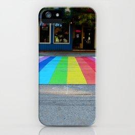 Rainbow Crosswalk iPhone Case