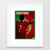 ronaldo Framed Art Prints featuring Cristiano Ronaldo by John Sideris