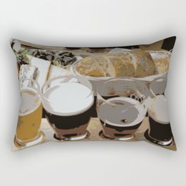 Beer Lunch | Beer Sampler | Beer Flight Rectangular Pillow