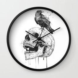 New skull (bw) Wall Clock