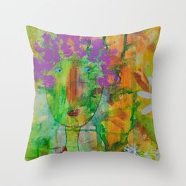 Tickled Pink by Jenny Friske-Baer Throw Pillow