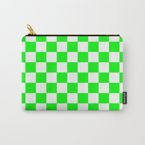Checker (Green/White) Carry-All Pouch