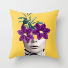 Floral Portrait 2 Throw Pillow