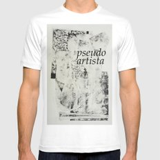 PSEUDOARTISTA Mens Fitted Tee MEDIUM White