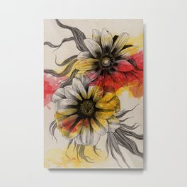 Floral Series: Gazania Rigens Metal Print