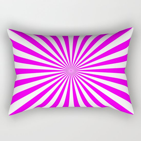 Starburst (Fuchsia/White) Rectangular Pillow