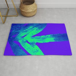 Blue Ultraviolet Green Earth Day Fern Rug