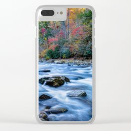 Fall in the Smokies - Autumn Colors at Laurel Creek in Smoky Mountains Clear iPhone Case