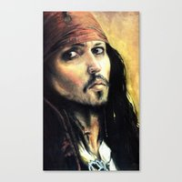 infamous Canvas Prints featuring Infamous Pirate by LaFaimArtiste