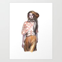 model Art Prints featuring Model by nicky costi