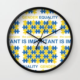 Gender Equality_07 by Victoria Deregus Wall Clock