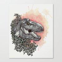 dinosaur Canvas Prints featuring Dinosaur by Gemma Goode