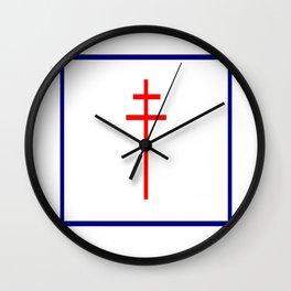 Croix de Lorraine- Wall Clock