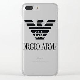 Giorgio Armani T-Shirt Clear iPhone Case