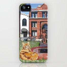 Cotton Cat Doodle iPhone Case
