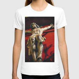 Jesus hanging on the cross T-shirt