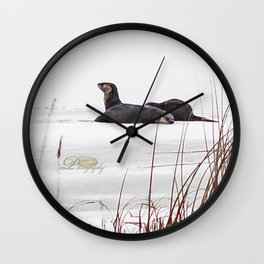 Three Otters Wall Clock