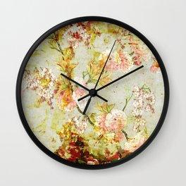 climbing flowers Wall Clock